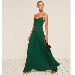 Reformation Thistle Dress in Emerald